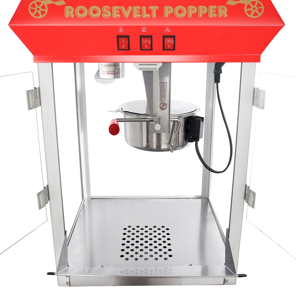 Great Northern Popcorn 6010 Roosevelt Top Antique Style Popcorn Popper Machine, 8-Ounce 3