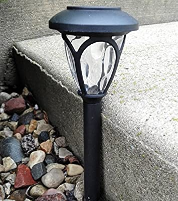 8Pack Classic Black Solar Lights Outdoor Sogrand Solar Pathway Lights Solar Landscape Lighting Solar Path Lights Solar Garden Lights
