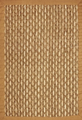 10' x 14' Seagrass Area Rug with Thick Knot and Tan Border