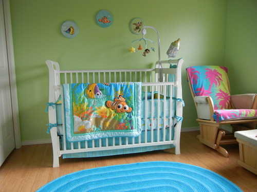 Disney Finding Nemo 8 Piece Crib Bedding Set Baby