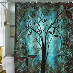 1 DENY Designs Madart Romantic Evening Shower Curtain 69 Inch By 72