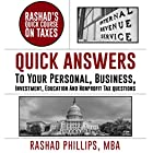 Rashad's Quick Course on Taxes Hörbuch von Rashad Phillips MBA Gesprochen von: Chris Abernathy