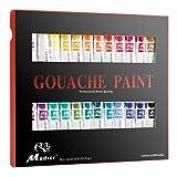 Madisi Gouache Paint Set - 24 Vivid Colors, 12 ML Tubes (Color: 24 Gouache Paint)