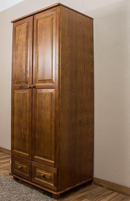 Echtholz Kleiderschrank, Farbe: Eiche 190x80x60 cm