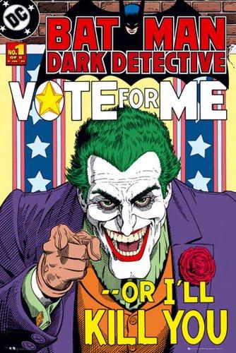 Empire 570 031 Batman - Joker Vote For Me - Movie Poster Cinema Film Fantasy, 61 x 91,5 cm