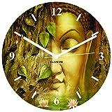 Xclusve Designer Multi Buddha Wooden Clock (30.5 X 30.5 X 30.5 Cms)