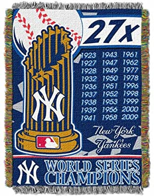 MLB New York Yankees Commemorative Acrylic Tapestry Throw Blanket
