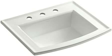 "KOHLER K-2356-8-NY Archer Self-Rimming Bathroom Sink with 8"" Centers, Dune"