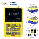 Genuine DMYCO V8 Signal Finder Free Sat HD 1080P DVB-S/S2 Digital FTA Satellite Signal Meter MPEG-4 Satellite Direct TV Dish Receiver Tool with 3.5 Inch LCD Screen Display