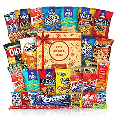 Snack Chips Gift Set College Bundle Care Package 50 Count from Duogreen