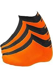 Puma Socks - United Legwear Men's 6 Pack 1/2 Terry Form Stripe Low Cut Socks
