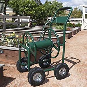New 300' Heavy Duty Outdoor Garden Water Hose Reel Cart