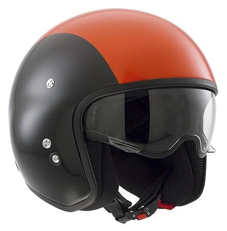 AGV Helmets 466PA2B0_008_L Casque Jet HI-Jack Diesel E2205 Multi, Multicolore (Noir/Orange), L