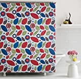 "Home Candy Fancy PEVA Shower Curtain - 70""x70"", Multicolor"