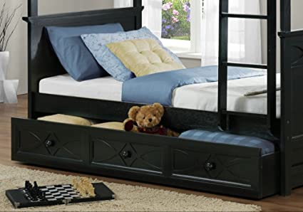 Homelegance Sanibel Bunk Bed Trundle in Black