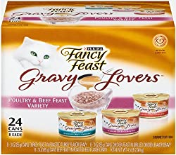 Fancy Feast Wet Cat Food, Gravy Lovers, Poultry & Beef...