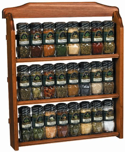 McCormick Gourmet Spice Rack, Three Tier Wood,