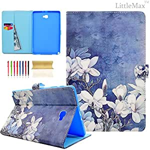 iPad Mini 4 Case LittleMax(TM)[Kickstand] Leather Flip Protective Case Full Body [Wallet Function] Case Cover for Apple iPad Mini 4 [Free Cleaning Clothing & Free Stylus][Kid's Gift]-01 Sunflowers