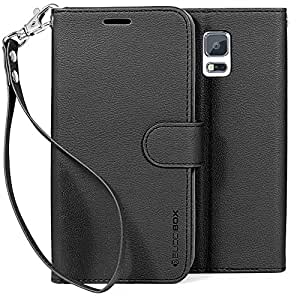 S5 Case, BUDDIBOX Samsung Galaxy S5 Wallet Case [Wrist Strap Edition] Premium PU Leather **NEW** Fits Cards and...