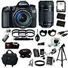 Canon EOS 70D EFS 18-135mm IS STM Kit + Canon EF-S 55-250mm f/4-5.6 IS STM Lens + 64GB SD HC Memory Card + Tiffen Photo Essentials Filter Sets (2) + (2) Replacement Batteries + AC/DC Rapid Mini Battery Charger for Canon + Accessory Kit