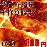 [明日着く]鹿児島県産やごろう豚 究極の黒豚餃子16個【冷凍】