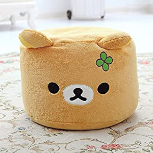 Follow518 cute bear plush children step stool for Small stuffed chairs