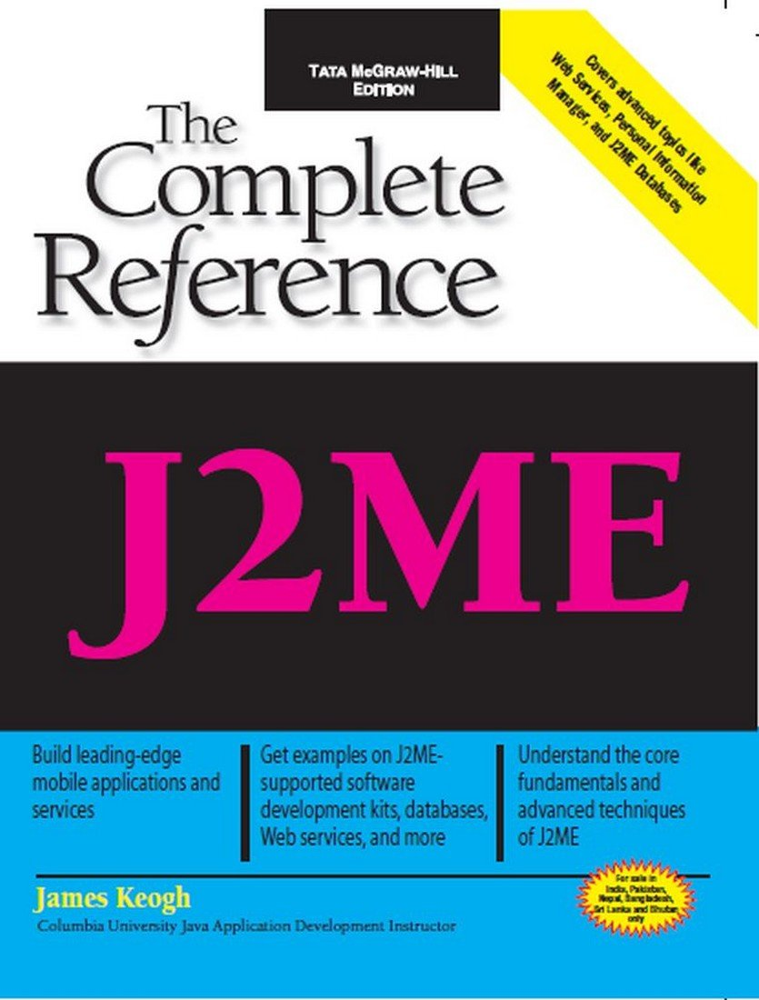 Buy J2me: Theplete Reference Book Online At Low Prices In India  J2me:  Theplete Reference Reviews & Ratings  Amazon