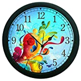 meSleep Abstract Wall Clock (With Glass)
