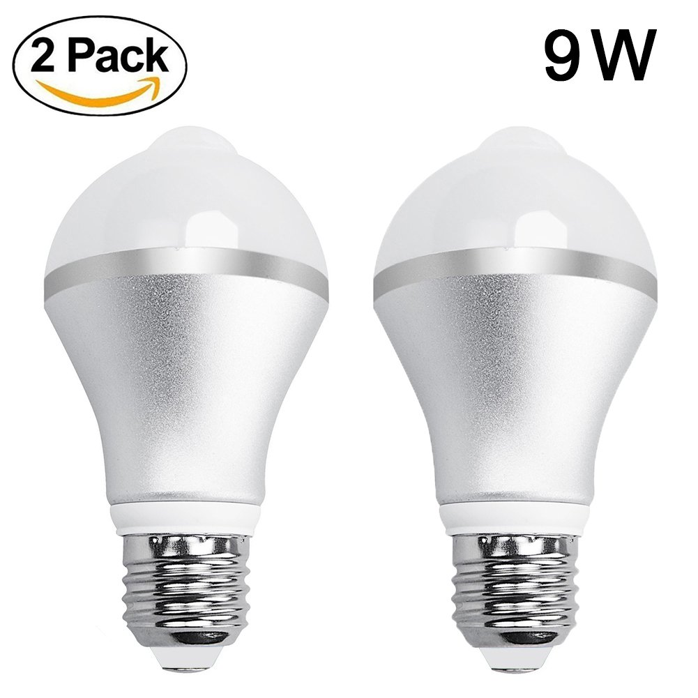 Aukora 9w Motion Activated Led Bulb E26 E27 Motion