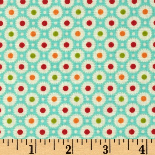 Amazon.com: Moda Marmalade Laminated Cotton Dot Blue Fabric By The YD