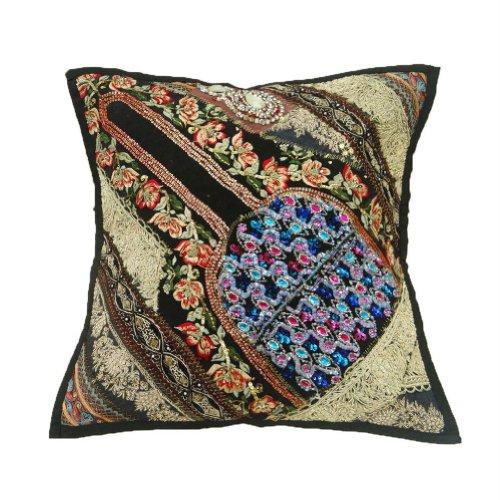 decorazioni per la casa perline patchwork cuscino del divano copertina federa ricamato etnico india 16'' pollici