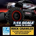 Remote Control Car For Kids - Rock Crawler 4x4 RC Car - 1/14 Rock Master Rock Crawler with 2.4Ghz Controller by ThinkGizmos (Trademark Protected)