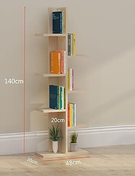 TH Scaffali per libri Scaffali per libri Scaffali per scaffali per studenti ( Colore : Colore del registro , dimensioni : 8-tier )