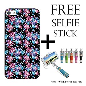 Hamee Disney Frozen Princess Licensed Hard Back Case Cover For iPhone Xiaomi Mi4i / Mi 4i Cover with Free Selfie Stick Monopod - Combo 47