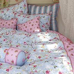 PIP 8715944067782 Bettwäsche - Chinese rosa 135 x 200 cm und 80 x 80 cm, Baumwolle blau (blue)