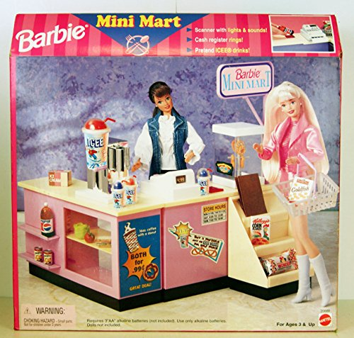 barbie-1998-mini-mart-playset-mit-viel-zubehor-scanner-mit-lights-sounds-kasse-rings-icee-drinks-