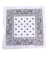 HDE 100% Cotton Paisley Print Bandana Handkerchief Headwrap Doo Rag