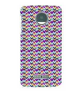 PrintVisa Corporate Print & Pattern Chevron 3D Hard Polycarbonate Designer Back Case Cover for Motorola Moto Z