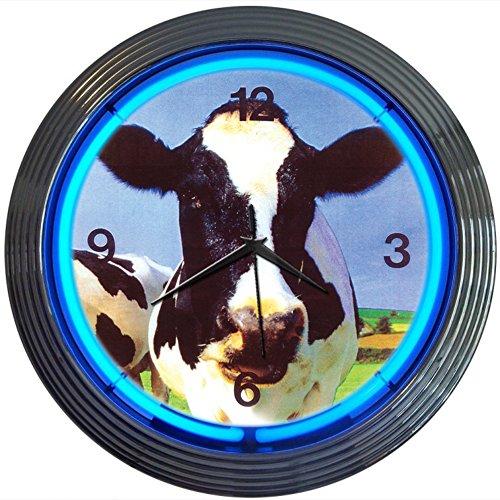 Retro Cow Neon Wall Clock