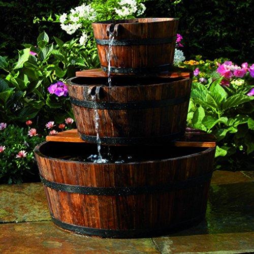 Fontaine de jardin en bois edinburg ubbink 1387021