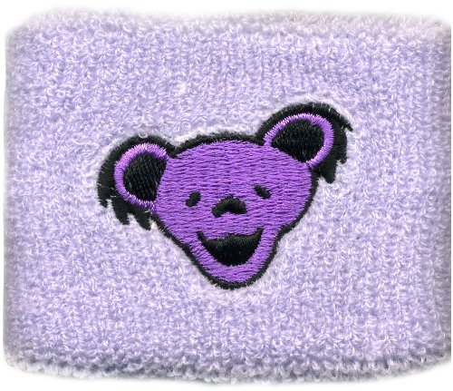 Licenses Products Grateful Dead bear Heads on Light Purple Wrist Band