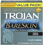 Trojan Condom Sensitivity Bareskin Lu...