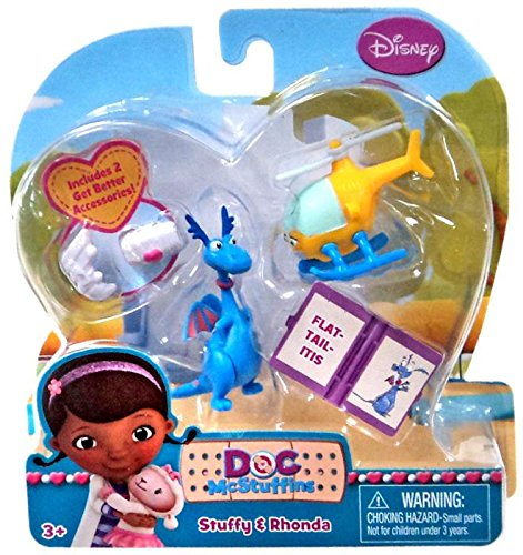 Disney Doc McStuffins Action Figure 2-Pack Stuffy & Rhonda - 1
