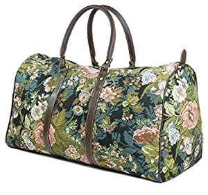 Tapestry Weekend Holdall/Luggage Bag/Travel Bag (large) Moon Flower - Gobelin Style