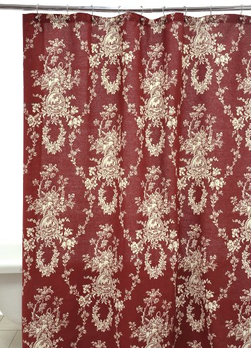 waverly by famous home fashions country house red shower curtain review