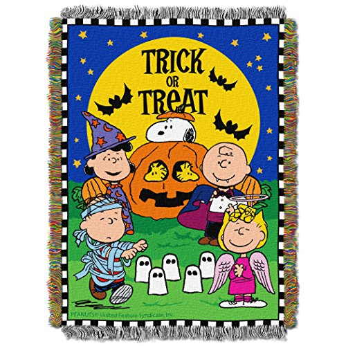 Peanuts Spooky Gang Tapestry Throw by The Northwest Company, 46 by 60