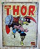 """Thor Retro Metal Tin Sign 16""""h X 12.5""""w"""