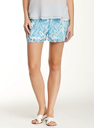 Romeo + Juliet Feathers Womens Medium Soft Shorts Blue M