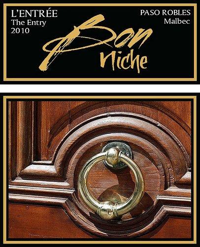 2010 Bon Niche Cellars Malbec Central Coast Paso Robles Bon Niche L'Entrze, The Entry 750 Ml Bottle