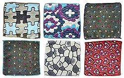 Fancyadda Kids Cotton Soft Handkerchiefs (Pack of 6, Multi-colored)